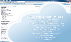 CyCHART CPOE tab shows detailed patient records